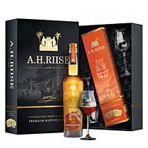 A.H. Riise - Rhum hors d'âge - XO - Ambre d'or - Coffret 2 verres - 70cl - 42°