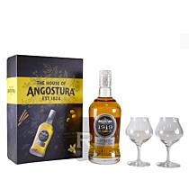 Angostura - Rhum hors d'âge - 1919 - Coffret 2 verres - 70cl - 40°