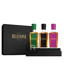 Bellevoye - Whisky - Coffret noir Prestige 3 x 20cl - 60cl - 43°