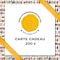 La Compagnie du Rhum - Carte Cadeau 200 €