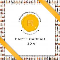 La Compagnie du Rhum - Carte Cadeau 30 €