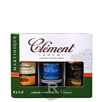 Clément - Etui 6 mignonnettes - 30cl - 45°