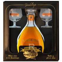 Darboussier - Rhum hors d'âge - Carafe et 2 verres - 70cl - 42°