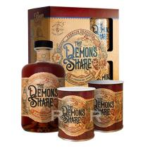 The Demon's Share - Rhum épicé - 6 ans - Coffret 2 verres - 70cl - 40°