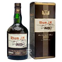 JM - Rhum hors d'âge - 10 ans - Millésime 2003 - Bouteille numérotée - 70cl - 44,8°