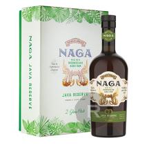 Naga - Rhum vieux - Java Reserve - Coffret 2 verres - 70cl - 40°
