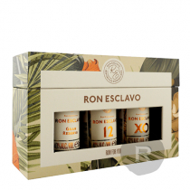 Ron Esclavo - Rhum hors d'âge - Coffret - Gran Reserva -12 ans - XO - 3 x 5cl - 40,67°