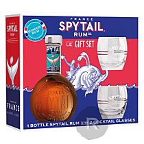 Spytail - Rhum épicé - Ginger Rum - Coffret 2 verres - 70cl - 40°
