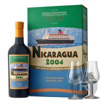 TCRL - Rhum hors d'âge - Nicaragua - Millésime 2004 - Coffret 2 verres - 70cl - 43°