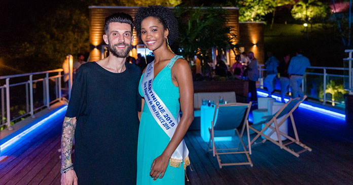 Photo de Nicola Battafareno avec Miss Martinique