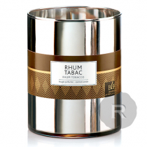 Bougies La Française - Rhum Tabac - XL - 100H - Verre Métal Argenté