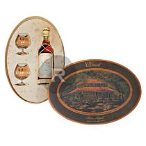 Clément - Coffret en bois ovale Habitation - Millésime 1976 et ses 2 verres de dégustation - 70cl - 44°