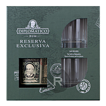 Diplomatico - Rhum hors d'âge - Reserva Exclusiva - 12 ans - Coffret old fashioned - 70cl - 40°