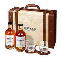 Mezan - Valise Luxe - Jamaican barrique XO + Jamaica 2005 + 6 verres et sous verres - 1,4L - 43°
