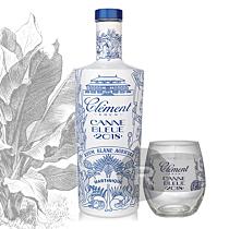 Clément - Noël - Canne Bleue 2018 - 70cl - 50° + 3 verres 39cl