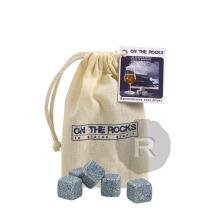On The Rocks - 10 Glaçons - Granit bleu de Bretagne - Sac en coton