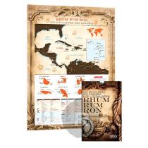 Rum Map - Carte des origines du Rhum - 60cm x 80cm
