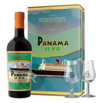 TCRL - Rhum hors d'âge - Panama - 15 ans - coffret 2 verres - 70cl - 40°
