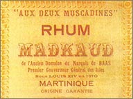 ancienne etiquette de rhum heritiers madkaud