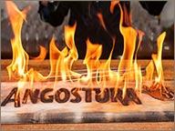 photo de logo angostura en feu