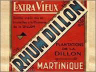 photo etiquette vintage de rhum extra vieux dillon
