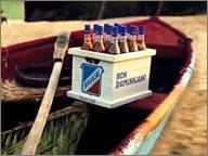 photo de rhum brugal sur un bateau