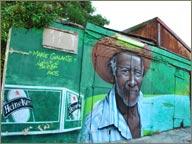 Mur Heineken à Marie-Galante