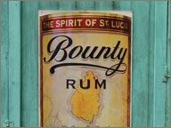 publicite de rhum Bounty a sainte lucie