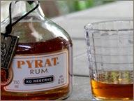 Rhum Pyrat et son verre